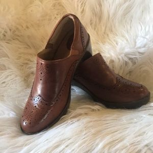 Arias boot brand leather clogs